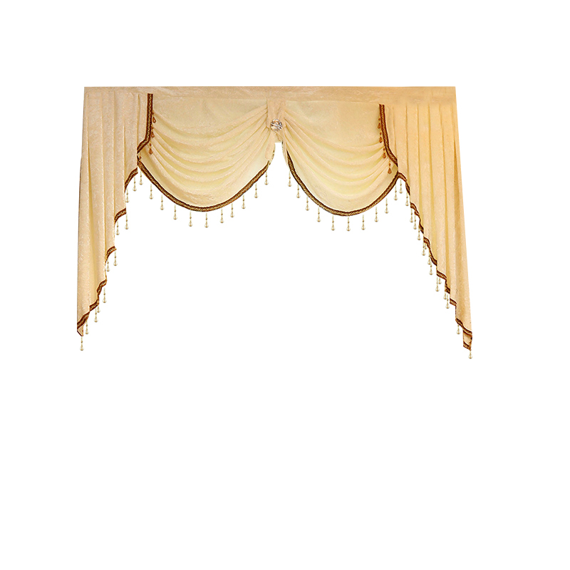 Pelmet Europe Luxury Valance Curtains for Living Room Window Curtains for Bedroom Curtains 1 Piece Custom Made in Curtains from Home Garden