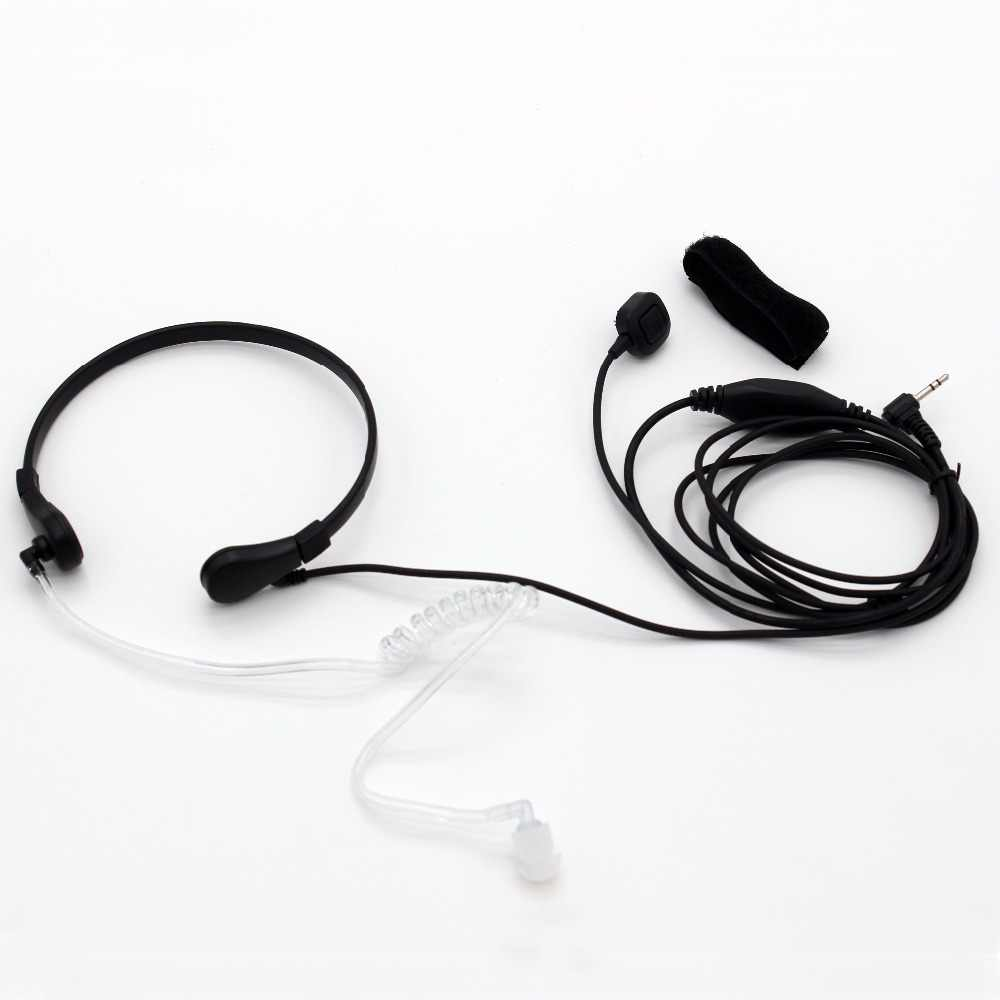 XQF Headset Throat Microphone 1 Pin 2.5mm Covert Air Tube Earpiece for Motorola TLKR T6 T270 T5100 T5410 Two Way Radio A101