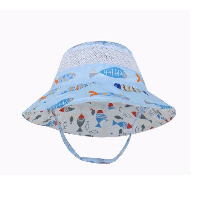 Kids Infant Bucket Hats Cap Cotton Fisherman Fishing Hat Cap Sun Hat Boys Girls