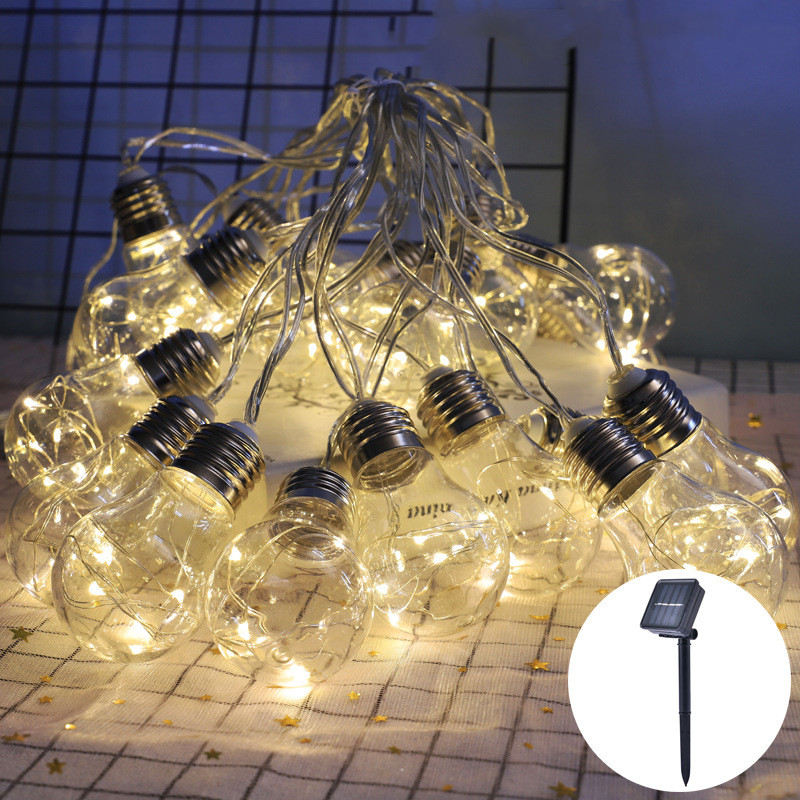 LED Solar Light String Christmas Wedding Fairy Lights Outdoor Waterproof Garden Courtyard Decoration Solar Light