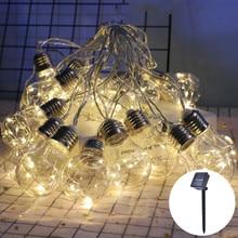 LED Solar Light String Christmas Wedding Fairy Lights Outdoor Waterproof Garden Courtyard Decoration Solar Light