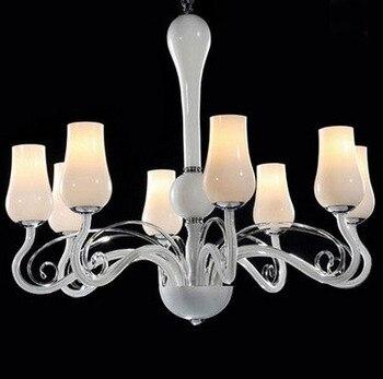 Vários Lustre 8 Cabeças contratada sala de jantar-sala de estar luzes do quarto romântico LED high-grade de vidro lâmpada ZX95