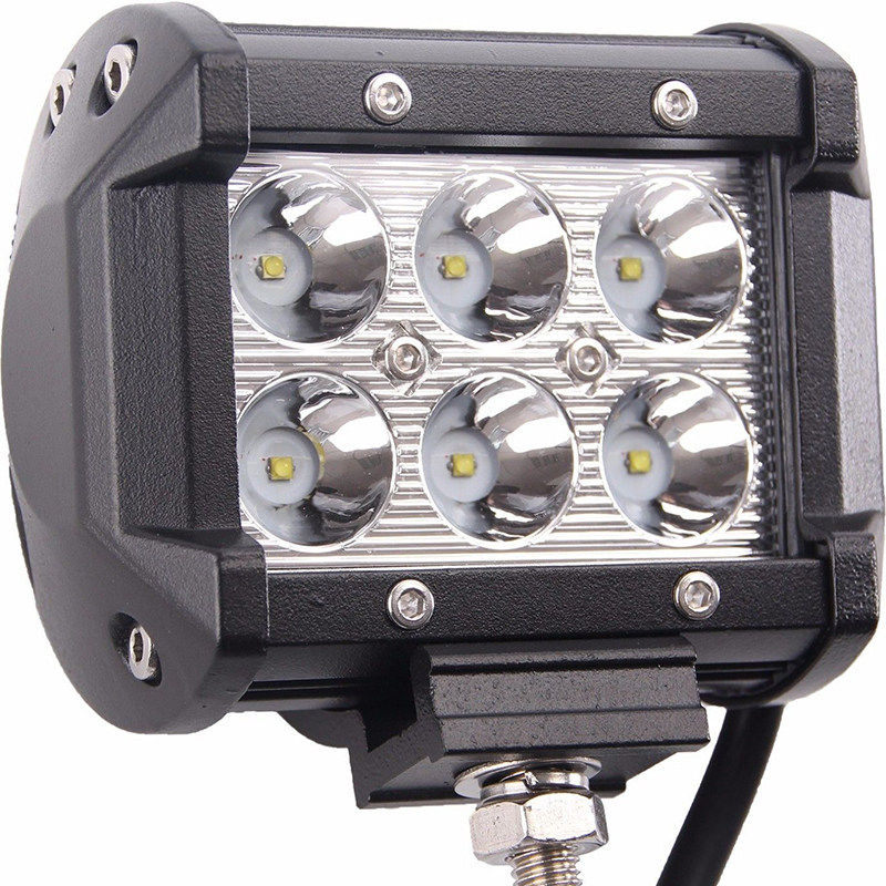 1PCS 18W ATV Off Road Light Lamp LED Strip Light Work Light Fog Driving Light Bar For Boat Offroad Car Truck Trailer Tractor