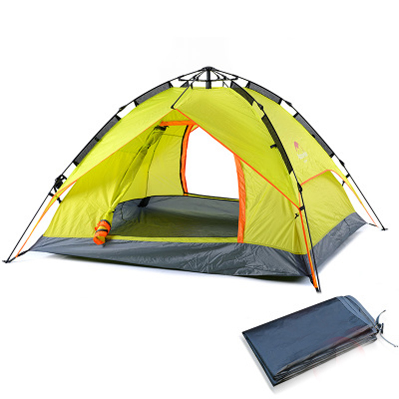 POINT BREAK High-quality Fully Automatic Tent 3-4 People Outdoor Picnic Camping Waterproof  Windproof Tent 2014shepherd 3 4 people double deck high quality outdoor camping tent