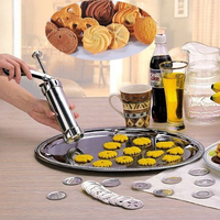 Cookie Press Machine Cutter Biscuit Maker Cookie Making Cake Decorating Gun 20 Press Molds 4 Pastry Piping Nozzles Kitchen Tool