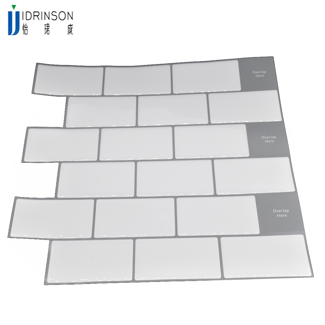 White large anti-tiles self-adhesive 3D wallpaper DIY kitchen bathroom decorative wall tiles white subway(China)