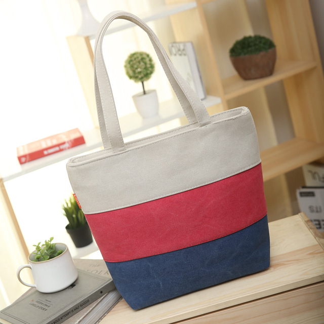 Large Canvas Bolsa de Praia Printing Striped Beach Bag Ladies Shoulder Handbags High Quality Womens Tote Bags Sac Femme