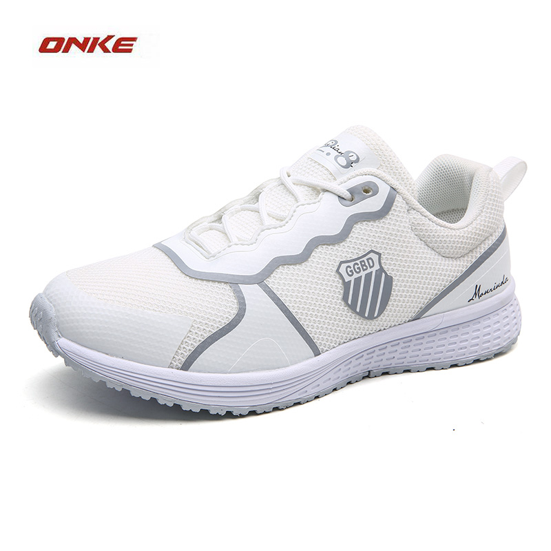 ONKE Lady Sneaker Woman White Color Sports Running Sneaker Track And Field Superstar Sports Shoes Woman Cozy Trainer Breathable