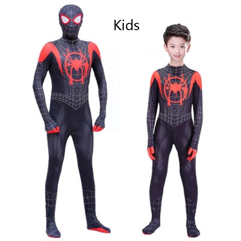 Spider-Man: Into the Spider-Verse cospaly costume Superhero Children Kids Adult jumpsuit