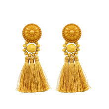 Tassel Earrings Statement Jewelry For Women Bohemia Big Long Drop Dangle Fringe Earring Vintage Earing Black Rose gold цены