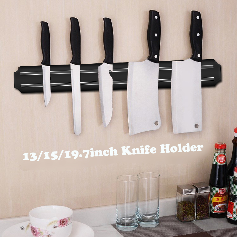 33/38/50cm Wall-Mounted Magnetic Knife Holder Knife Magnet Holder Rack Stander For Knife Organizer To Storage Kitchen Tools