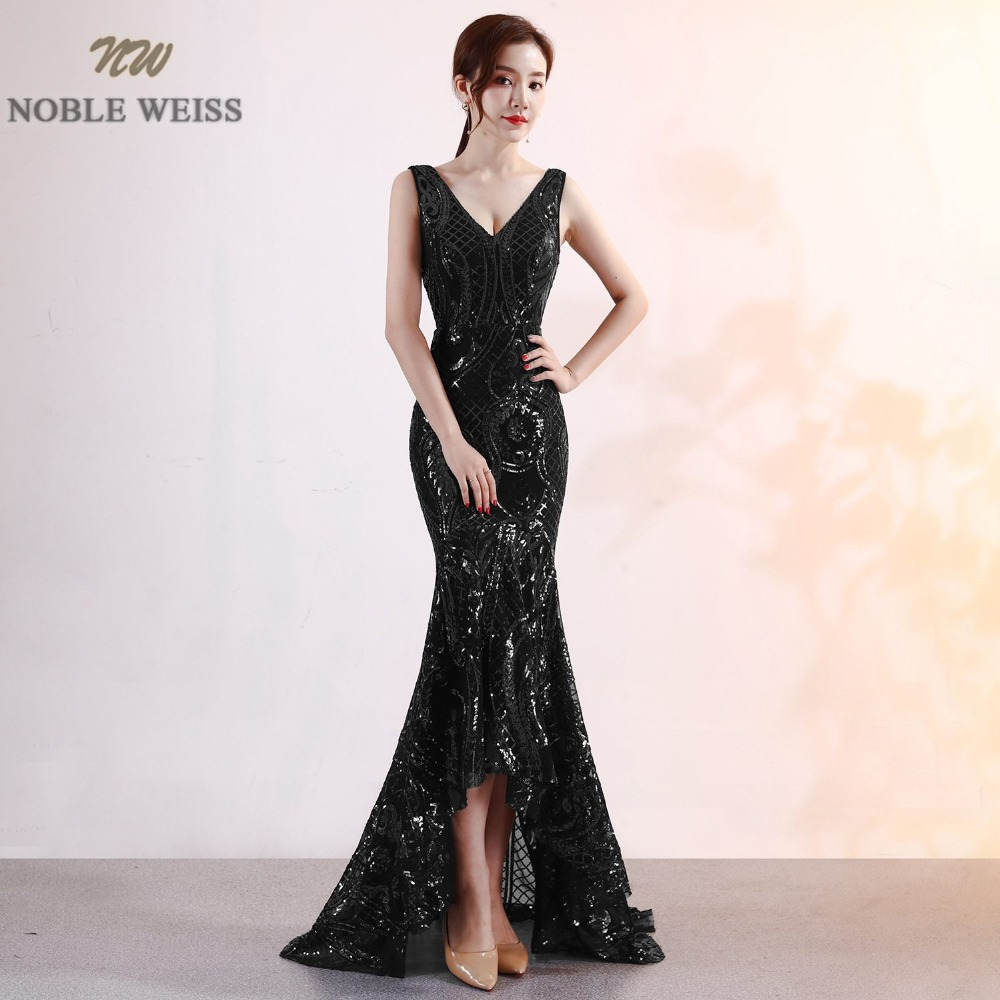Image 2 - NOBLE WEISS Luxurious Prom Dress Deep V Neck Bling Bling Sparkly Hot Sell Corset Exquisite Prom Dresses-in Prom Dresses from Weddings & Events