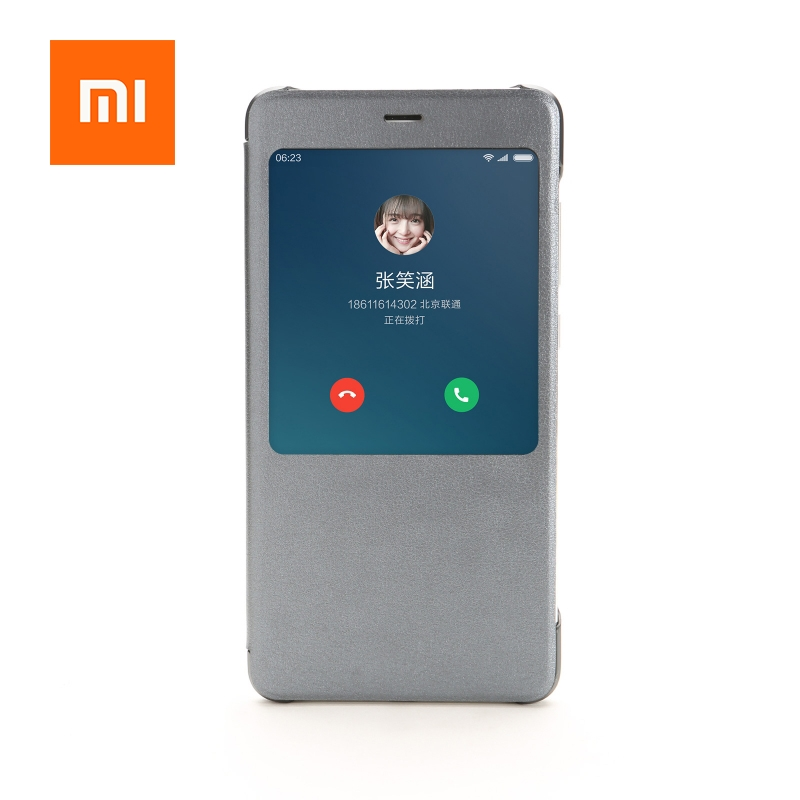 Original 100 Case For Xiaomi Redmi Note 4X Note 4 Cover PC PU Leather Material Protective