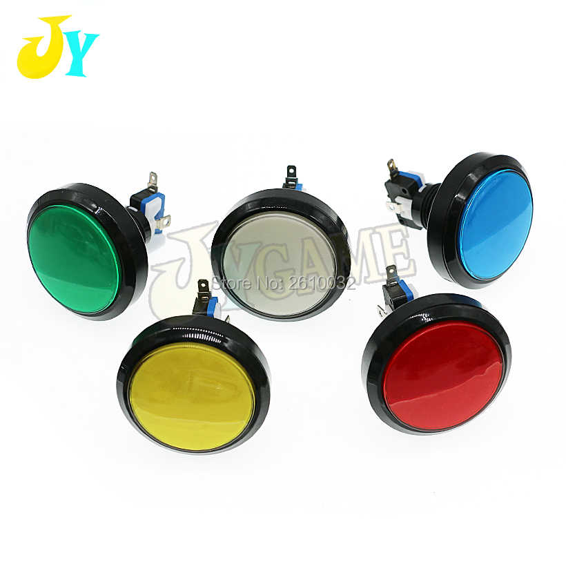 5 Colors 12V LED Light Lamp 60MM Big Round Arcade Video Game Player Flat Push Button Micro Switch