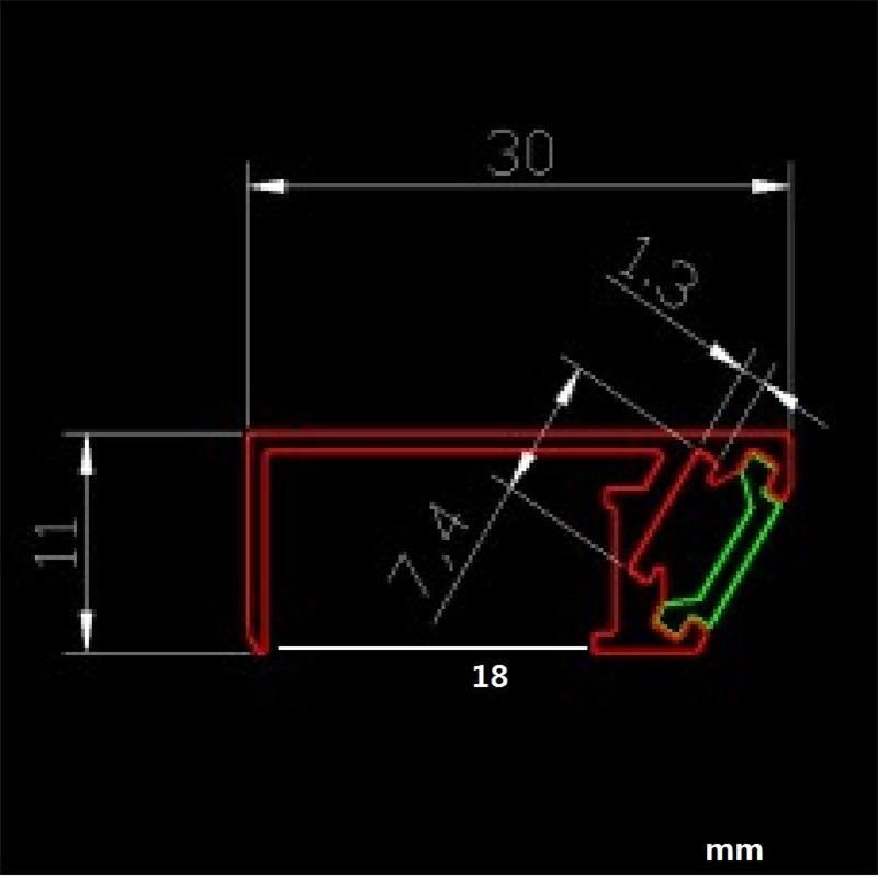 luz led perfil de aluminio lampada escondida 02