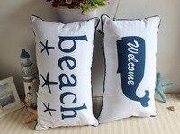 Mediterranean Style Pillow Furnishing Canvas Printing Home Furnishing Decor Pillows Living Room Sofa Office Chair Cushion
