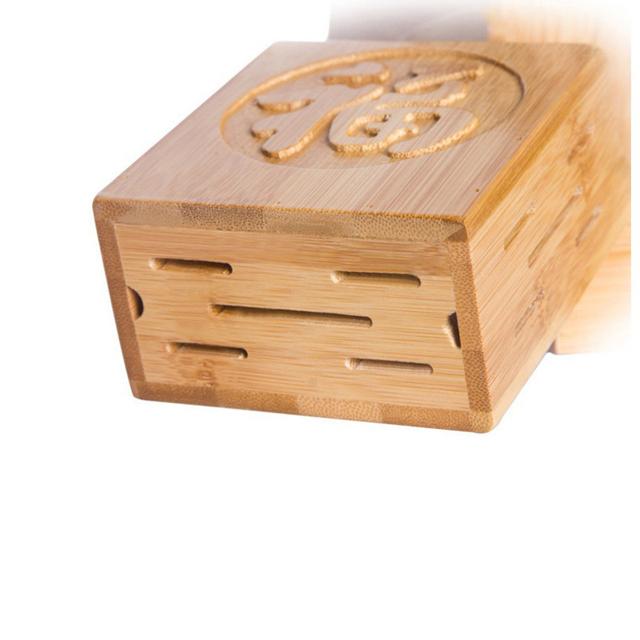 Wooden Knife Block Multifunctional Bamboo Knife Rack