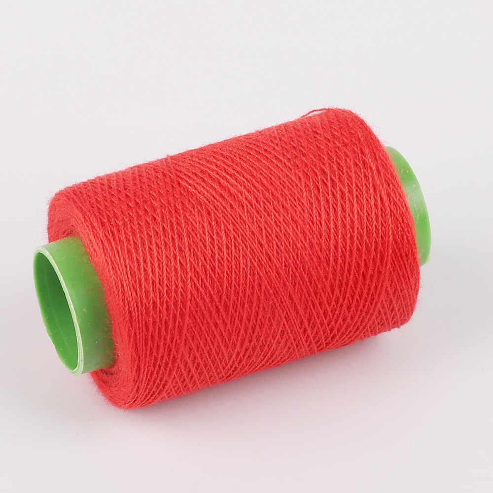 1 pc 300 m 高強力ミシン糸黒/白/赤木綿糸ミシン糸のための