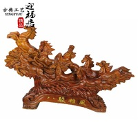 Eight treasures grass pear red wood wooden horse real national craft boutique creative Wenwan Home Furnishing desktop decoration