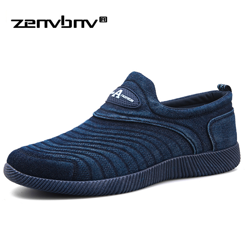ZENVBNV Men Canvas Shoes High Quality Comfort Denim Men Casual Shoes Krasovki Lace-up Flat Shoes Fashion Breathable Me Sneakers men shoes summer breathable lace up mesh casual shoes light comfort outdoor men flats cheap sale high quality krasovki