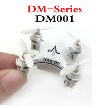 Cheapest DM001 Mini Drone 2.4G 4CH 6 Axis RC Gyro Helicopter Headless Quadcopter toys(China)