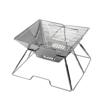 Outdoor stainless steel grill multi-function charcoal stove folding picnic multiplayer barbecue trumpet  camping wood solid цены