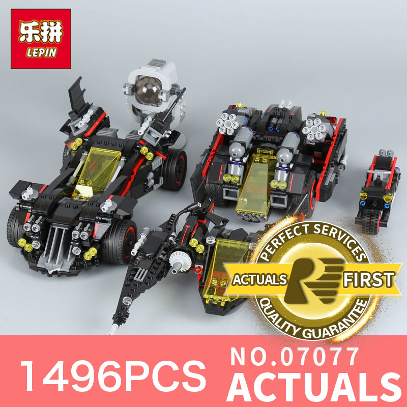 Lepin 07077 1496Pcs Batman The Movie Series The Ultimate Batmobile Set DIY Educational toys Building Blocks Bricks Model 70917 07077 1496pcs batman movie series the ultimate batmobile set diy toys educational building blocks compatible with 70917 lepin
