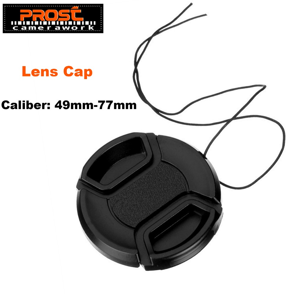 49mm 52mm 55mm 58mm 62mm 67mm 72mm 77mm Center Pinch Snap-on Front Camera Lens Cap Protection Cover With Anti-lost Rope