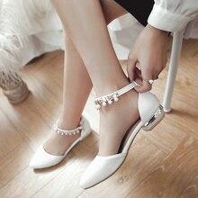 Nuevos Zapatos de Las Sandalias Damas D'orsay Zapatos Mujer Pisos Correa del Tobillo Hembra los Pies En Punta de la Bailarina Zapatos Primavera Verano Otoño