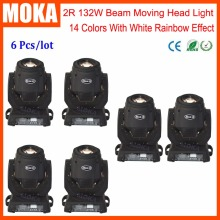 6 Pcs/lot Fantastic Products Mini 2R Led Moving Head Projector DJ Disco Stage Light for Wedding Show