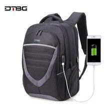DTBG 15 17 Laptop Backpack Patchwork Antitheft Large Capacity Travel Bags Men Casual Business Waterproof School Backpack цена