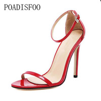 [H]Summer Super high heel Sandals Rough With The Fish Head open-toed Sandals sexy Large size women   shoes   .ZL-726-3