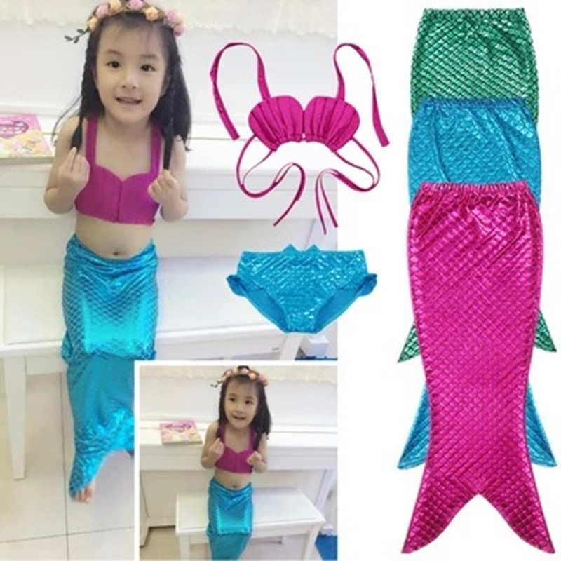 Girl Fancy Mermaid Tail Girl Swimsuit Bikini Summer Beach Swimsuit Free Shipping