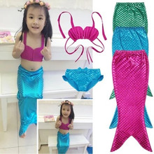Tjej Fancy Mermaid Tail Girl Baddräkt Bikini Summer Beach Baddräkt Gratis frakt