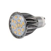 ICOCO 4 X GU10 15 SMD5630 6W LED Spot Light Bulbs Warm White Aluminum Shell