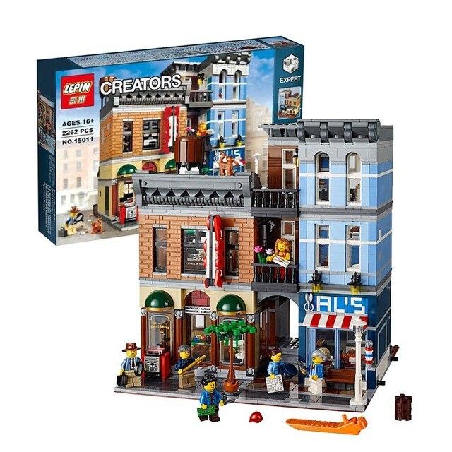 2016 LEPIN 15011 2262Pcs Creator City Street Detective's Office Model  Building Kit Blocks Bricks Compatible Toy