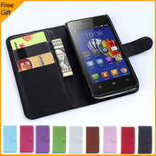 Luxury Wallet PU Leather Flip Cover Phone Case For Lenovo RocStar A319 Cell Phone Back Cover With Card Holder Stand Black