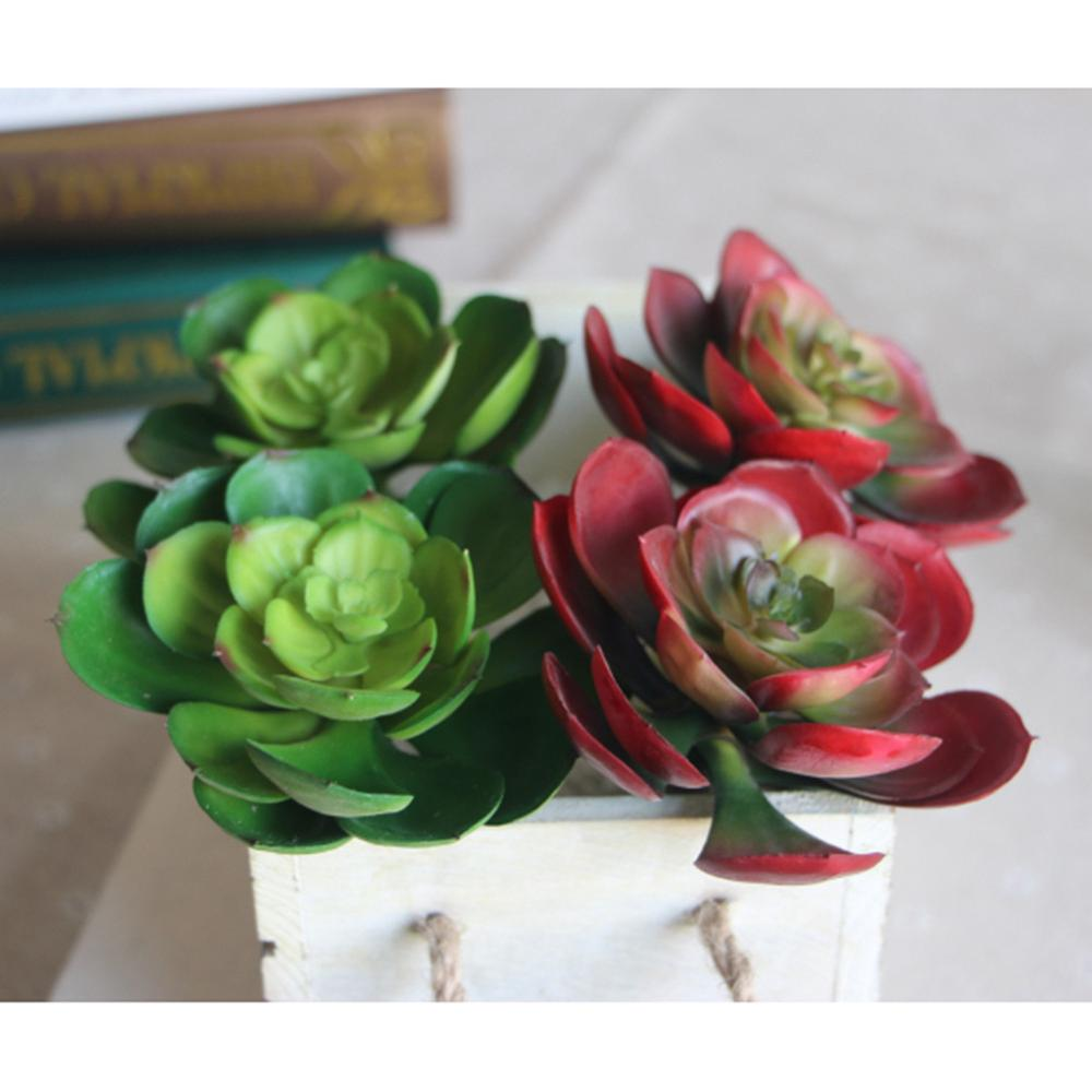 Artificial succulents Land Lotus Plants Grass Desert Artificial Plant Landscape Fake Flower Arrangement Garden Home Decoration