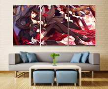 3 Panel Akagi Azur Lane Game Poster Canvas Printed Painting For Living Room Wall Art Decor Picture Artworks Wholesale