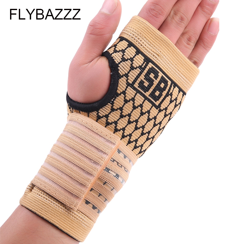 FLYBAZZZ 1PCS High Elastic Bandage Fitness Yoga Hand Palm Brace Wrist Support Crossfit Powerlifting Gym Wraps Pad Protector