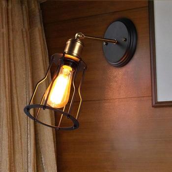 Лофт Винтаж настенный светильник американский стиль кантри Настенные светильники балкон/проход Свет Edison Винтаж творческий дом освещение ... >> LONVEASOI Store