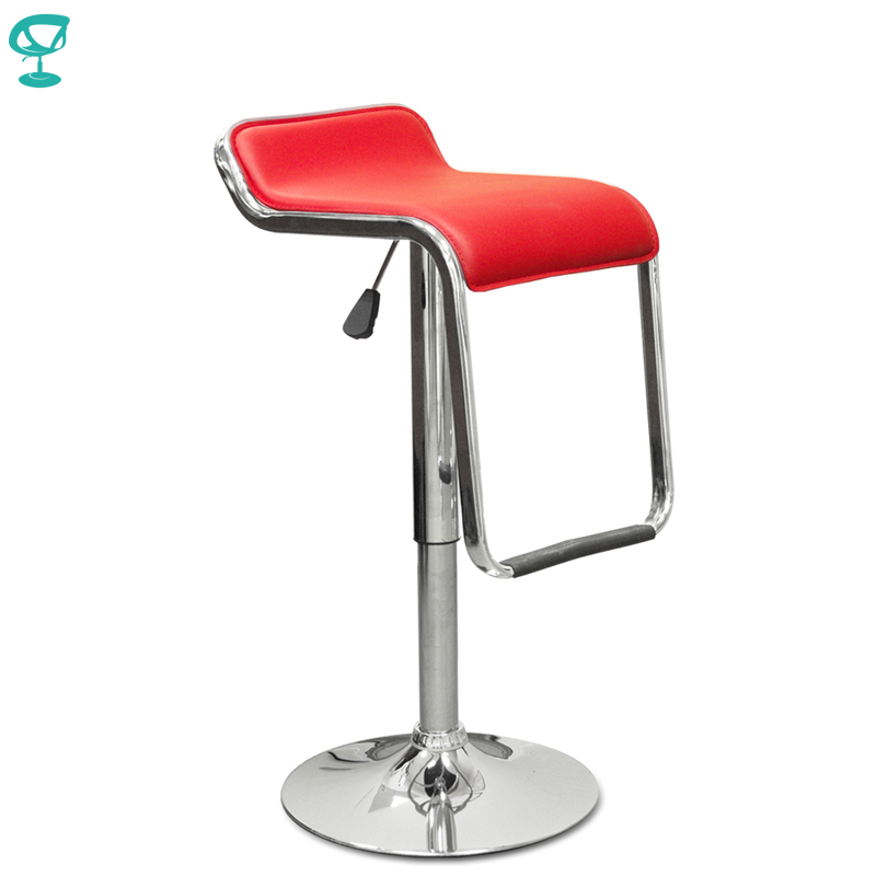 94538 Barneo N-41 Leather Kitchen Breakfast Bar Stool Swivel Bar Chair Red Free Shipping In Russia