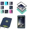 LD и Противоударный Dropproof Гибридный Броня Кремния PC Back Case Cover для iPad AIR 2 Air2 ipad 6 Protective Case for Kids дети