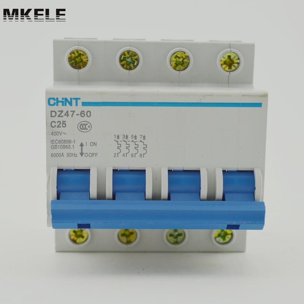 C63 Miniature Circuit Breaker Mcb Dz47 60 4p C25 A16 Electrical Machine