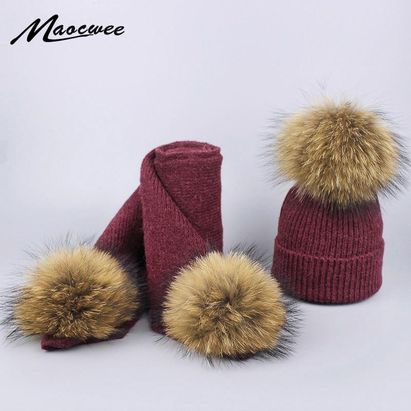Aus Dem Ausland Importiert Winter Warme Frauen Art Und Weise Strickte Schal Und Hut Set Crochet Ski Cap Beanie Skullies Kinder Und Erwachsene Gestrickte Wolle Schals