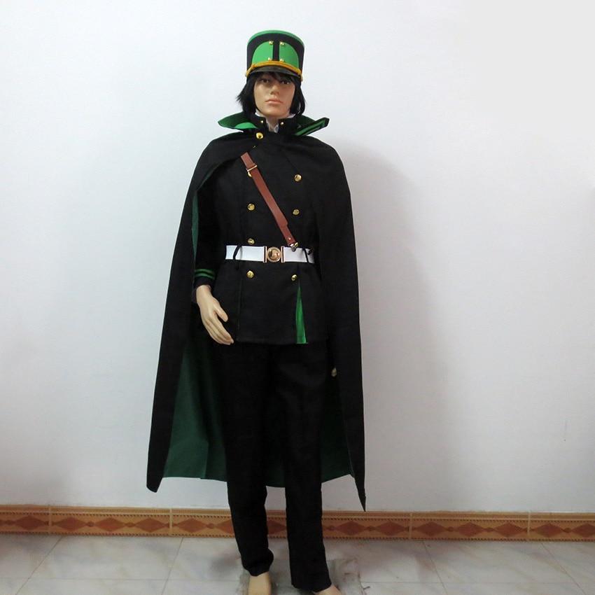 Seraph Of The End Yuichiro Hyakuya Cosplay Owari no Seraph Vampire Costume Include Hat+Wig+Gloves