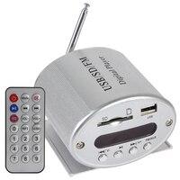 Digital Mini Car Amplifier Support MP3 FM SD USB Input Audio Play Reader 4 Electronic Keypad