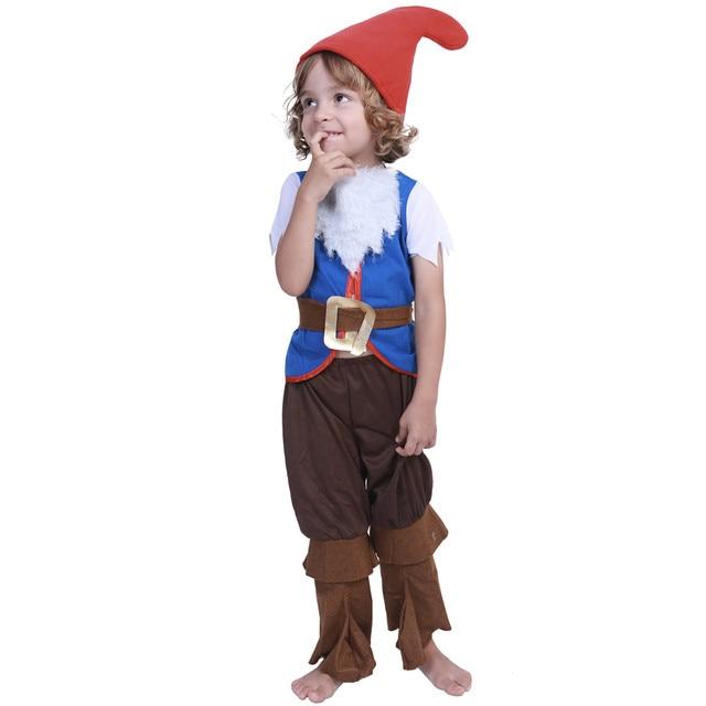 halloween carnival christmas cosplay forest mushroom elf costume tops pants hats full set children