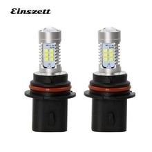 Einszett 2 шт 9007 белый автомобильный передний светодиодный противотуманный фонарь DRL свет 6500 K 800LM 2835 21SMD 12 V светодиодный противотуманный фонарь
