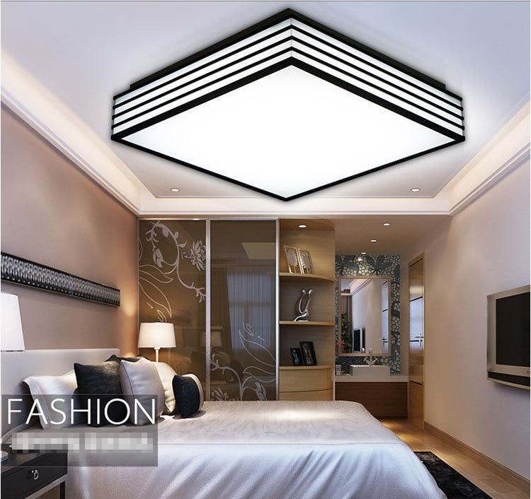 led de acrlico blanco y negro luces de techo cuadrados llev la luz de techo sala de estar dormitorio cocina iluminacin para el hogar en las luces del with